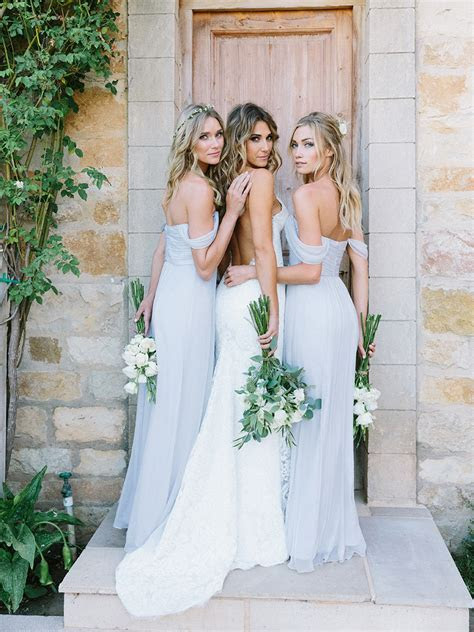 Elegant Baby Blue Off the Shoulder Long Bridesmaid Dresses