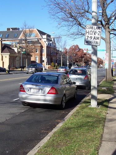 HOV 2 Lane in Alexandria