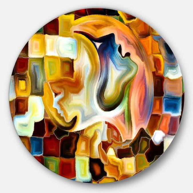 Designart Way of Inner Paint' Abstract Metal Circle Wall ...