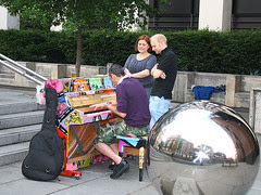 piano player london