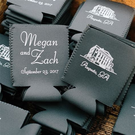 Premium Neoprene Can Coolers Personalized   My Wedding