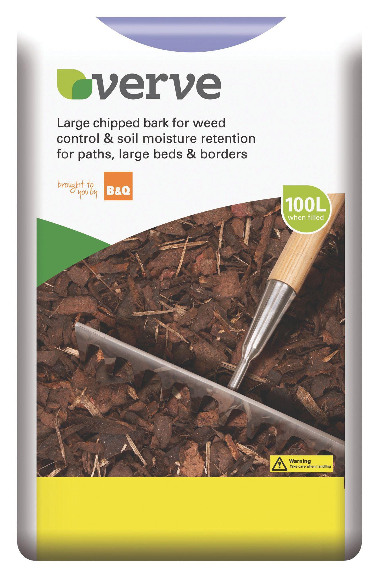 Verve Large Bark Chipping 100L Bulk Bag | Departments ...
