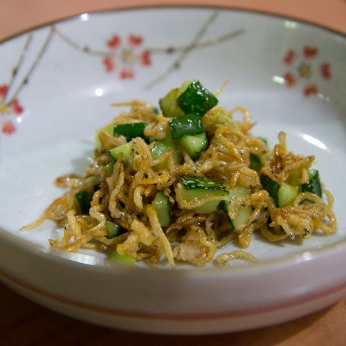 *Korean Appetizer - Sweet Ikan Bilis with Cucumber