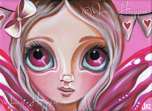 """Pink Party Fairy"" Original Painting by Jaz Higgins"
