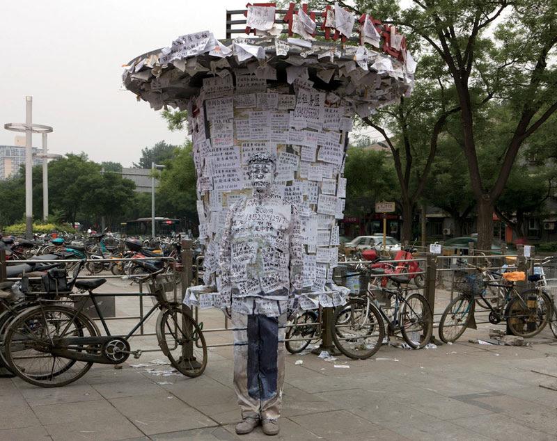 liu bolin de arte de alta resolución se esconden en la pintura de camuflaje china de la ciudad (20)