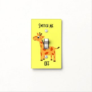 Cute Giraffe Switch Me Off Light Switch Cover