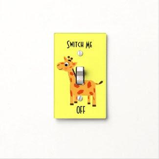 Cute Giraffe Switch Me Off Light Switch Cover
