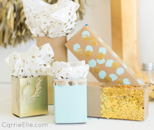 Upcycled Gift Wrap: Turn Toothpaste Boxes into Presents! - Carrie Elle
