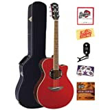 Yamaha APX500 Thinline Cutaway Acoustic-Electric Guitar Bundle with Hardshell Case, Tuner, Instructional DVD,...