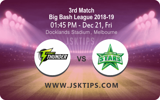 Cricket Betting Tips For Sydney Vs melbourne Stars 3rd T20
