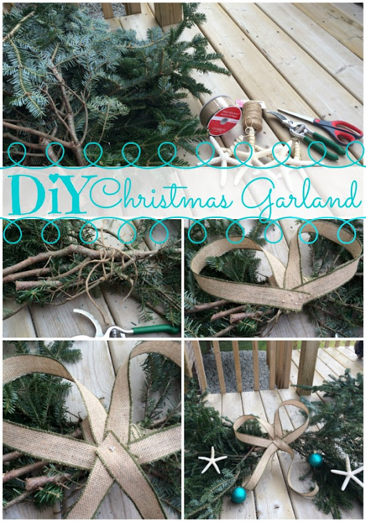 Upcycle Trimmed Tree Branches for DIY Christmas Garland | City Mom