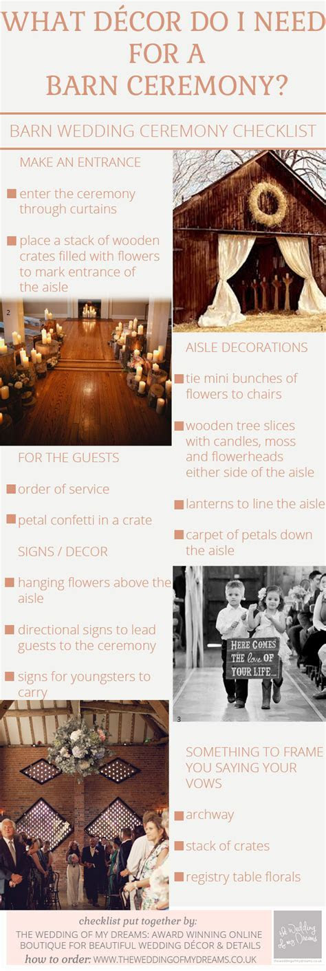 What Decorations Do I Need For A Barn Wedding Ceremony