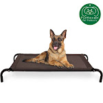 FurHaven Pet Cot Bed   Elevated Cot Pet Bed For Dogs & Cats (Espresso, Large)