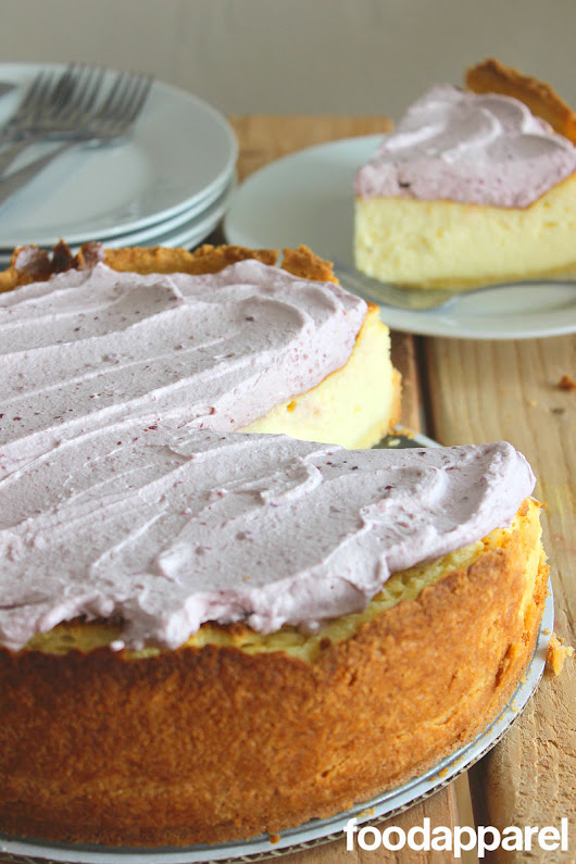 Vanilla Bean Cheesecake with Lemon Crust | Food Apparel