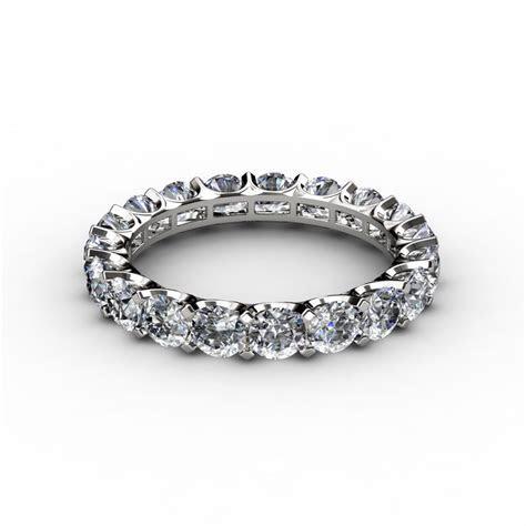 Round Cut U prong Diamond Eternity Anniversary Band Ring