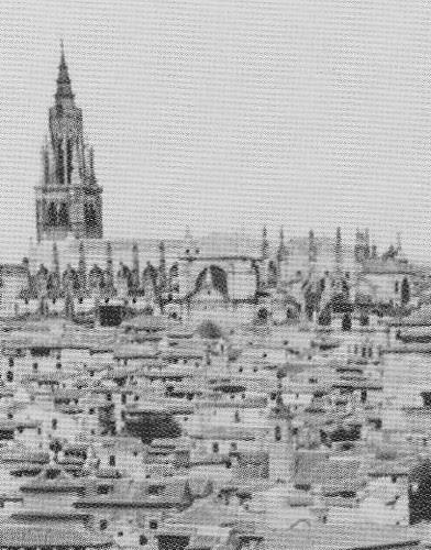 Iglesia de San Lorenzo en caserío toledano. Foto Kurt Hielscher 1914-19