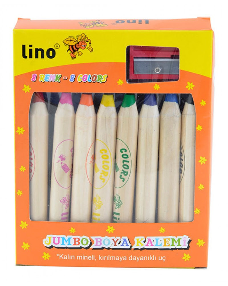 Lino Melodika Okul öncesi ürünleri Boyalar Ln808 Jumbo Boya Kalemi