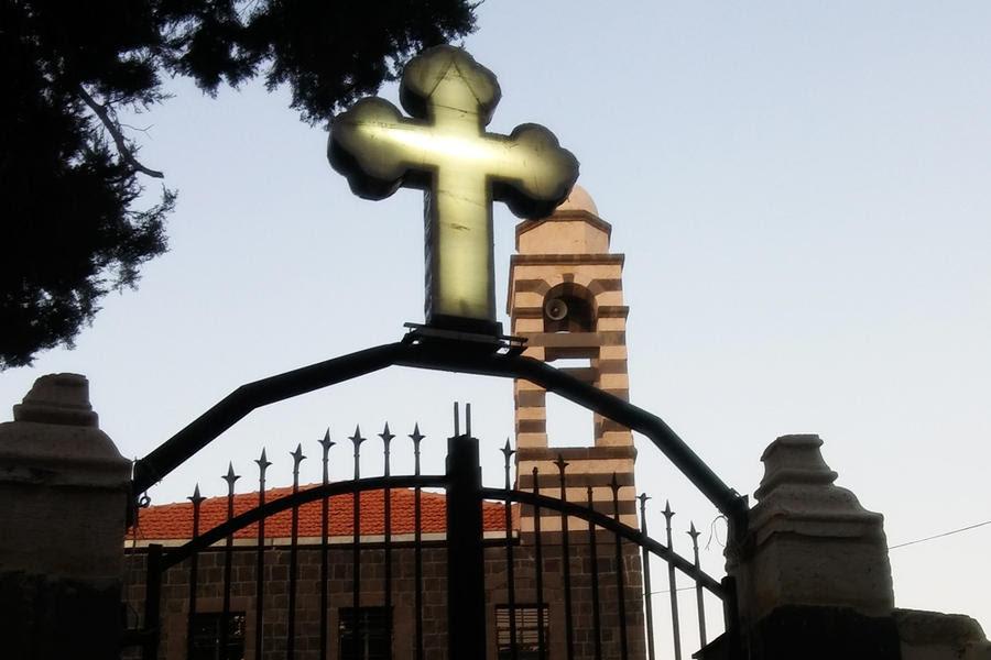 La histórica Iglesia de San Jorge en Homs luce su restaurado tejado (Foto Pablo Sapag M.)