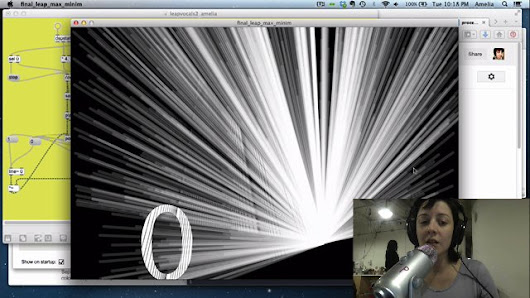 Experimental Music by Amelia Winger-Bearskin - LEAP Motion tech demos & experiments collection
