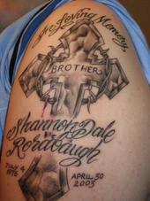 Full On Arm In Loving Memory Cross Tattoo Design Pic Tattoomagz