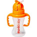 Thinkbaby Thinkster Straw Bottle Orange 9 Ounces