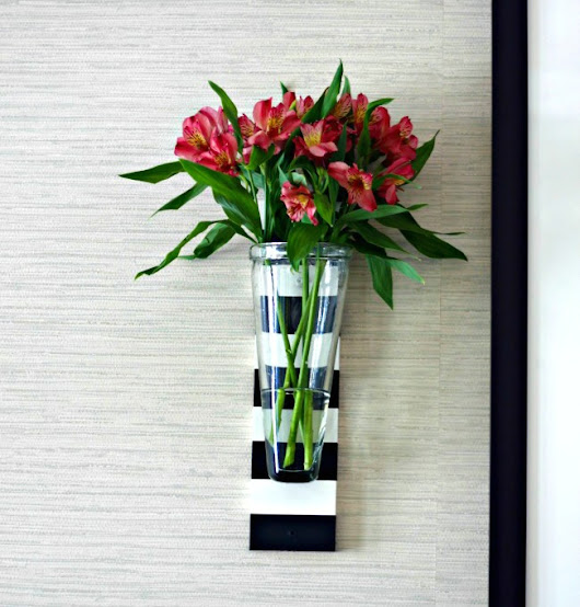 diy striped wall vases - Our Fifth House