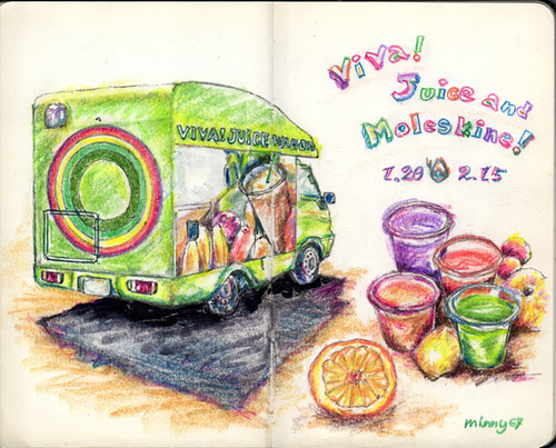 Viva! Juice and Moleskine!