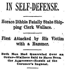 In Self-Defense.