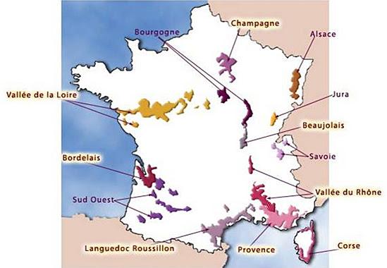 Les Cartes Des Vins En France Castanierdiffusioncom