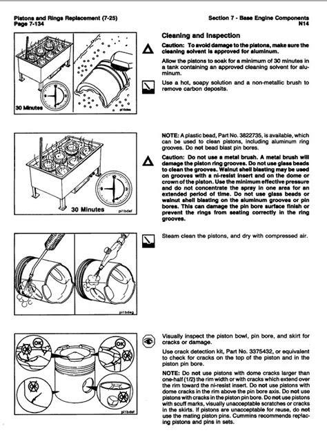 Cummins N14 Engines Shop & Troubleshooting & Repair Manual