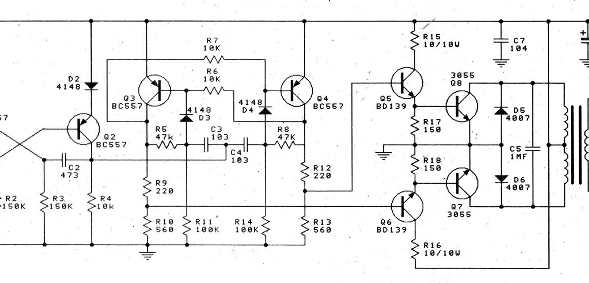 12v to 220v 100w transistor inverter circuit diagram