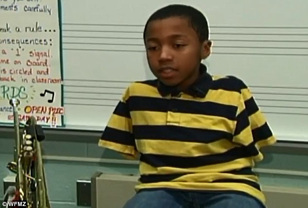 Jahmir says that anyone who wants to play an instrument should try because they may end up loving it