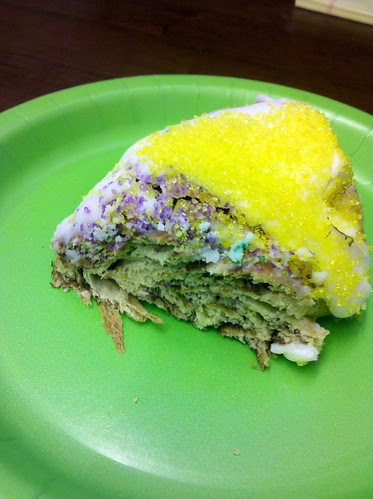 Slice of King Cake