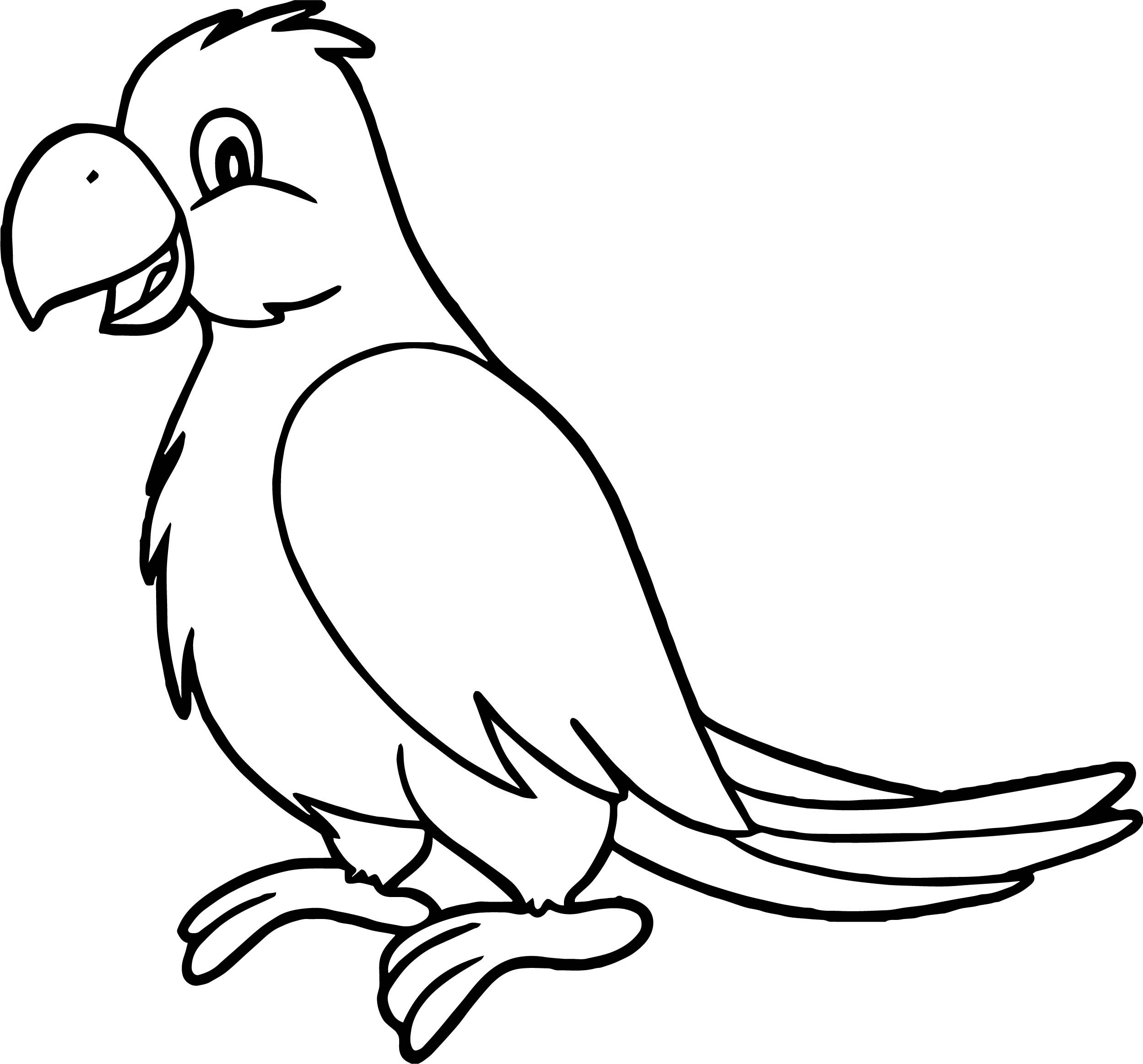 Sweet Parrot Coloring Page