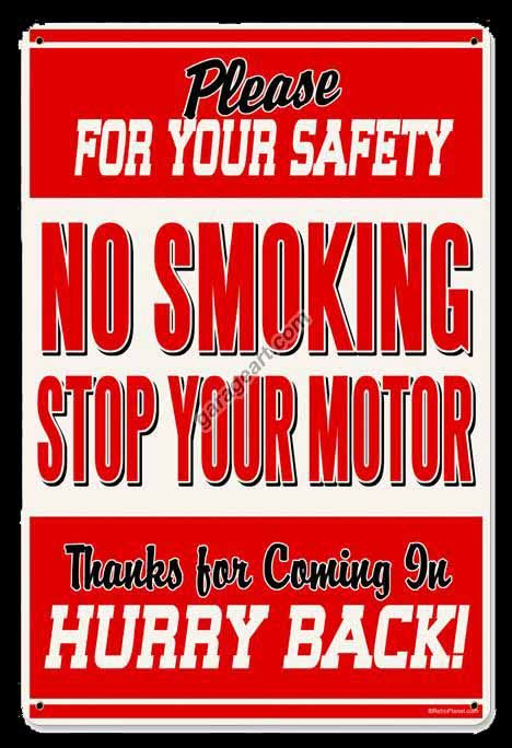 No Smoking Sign Vintage Gas Oil Signs Signs For Sale