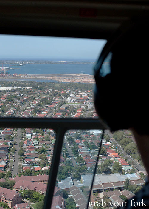 Bondi Helicopter flight from Mascot Sydney to Hunter Valley