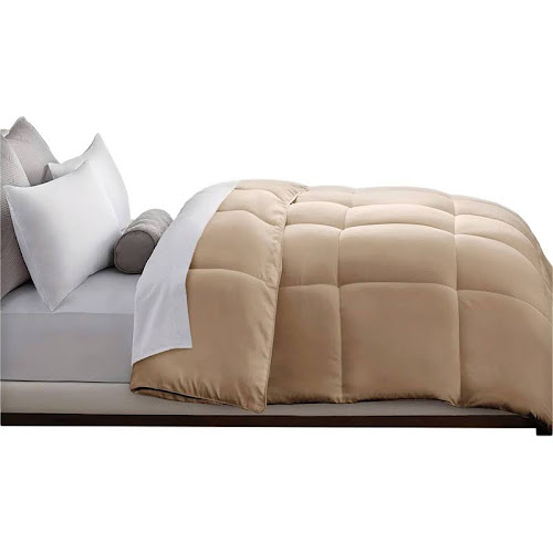 Full/Queen Down Alternative Microfiber Comforter - Khaki