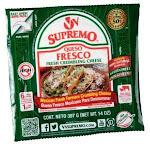 Supremo Queso Fresco Fresh Crumbling Cheese, 14 Ounce - 12 per case.