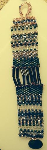 Freeform Peyote Stitch bracelet