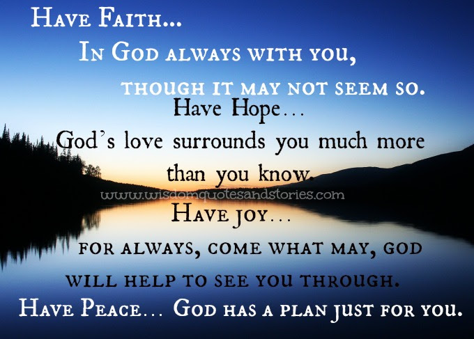 God Has A Plan Just For You Wisdom Quotes Stories