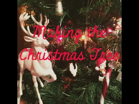 MAKING THE CHRISTMAS TREE | video on my youtube channel