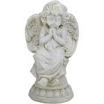 "9"" Ivory Praying Cherub Angel on Pedestal Tabletop Decor by Christmas Central"