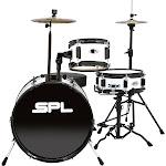 Sound Percussion Lil Kicker 3-Piece Junior Drum Set - Throne White