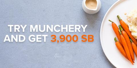 Get 3900 SB when you spend $20 on your first meal from Munchery