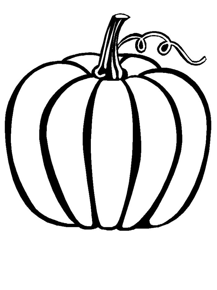 Fall Scarecrow and Pumpkins Coloring Page | Fall coloring pages ... | 934x700