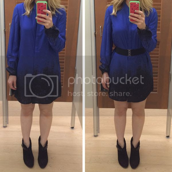 Elie Tahari for Kohls Blue Ombre Tunic