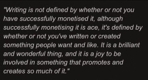 Moffat on making money for writing