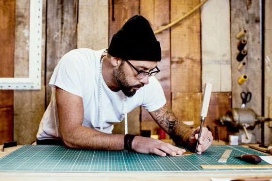 Craftsman at work.