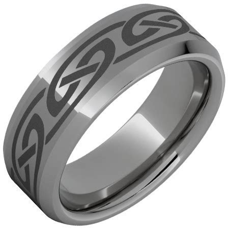 Rugged Tungsten? Beveled Edge Polished Band with Knot