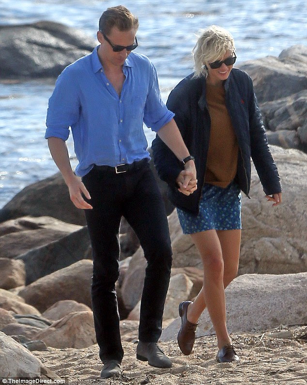 Shock romance: The affectionate display came just two weeks after Taylor split from Calvin Harris